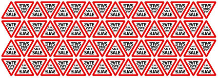 Seamless Road Sale Sign Background Stock Photography