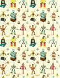 Seamless robot pattern. Vector drawing Stock Photos