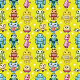 Seamless robot pattern Royalty Free Stock Images