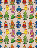 Seamless robot pattern Stock Image