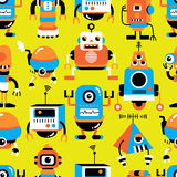 Seamless robot pattern. Vector,illustration Royalty Free Stock Photography