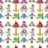 Seamless Robot pattern. Cute cartoon vector illusttration Stock Photography