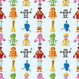 Seamless Robot pattern. Cute cartoon vector illusttration Royalty Free Stock Image