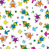 Seamless Robot pattern,cartoon vector illustration Royalty Free Stock Photos