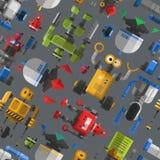 Seamless robot pattern cartoon vector illustration. Royalty Free Stock Image