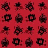 Seamless robot pattern Royalty Free Stock Photos