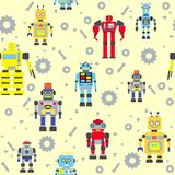 Seamless robots pattern Royalty Free Stock Image