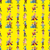Seamless rock band pattern Stock Photos