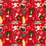 Seamless rock music pattern Stock Image