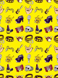 Seamless rock music pattern stock illustration