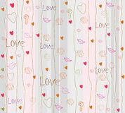 Seamless romantic background with hearts. Valentine's day Stock Photography
