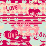 Seamless romantic background in modern style. Seamless romantic background for Valentine`s Day. Decor invitations, paper. For Valentine`s Day. Romantic Stock Images