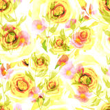 Seamless romantic blurred roses background pattern print Stock Images