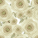 Seamless romantic blurred roses background pattern print Stock Photos