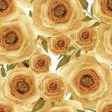 Seamless romantic blurred roses background pattern print Royalty Free Stock Photography