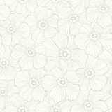 Seamless romantic flower pattern Stock Images