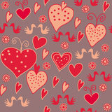 Seamless romantic pattern Stock Image