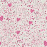 Seamless romantic pattern Royalty Free Stock Photography