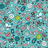 Seamless romantic pattern Stock Photo