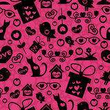Seamless romantic pattern Royalty Free Stock Photo