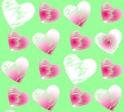 Seamless romantic pattern with hearts. Royalty Free Stock Image