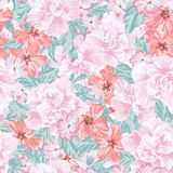Seamless romantic pattern. Royalty Free Stock Image