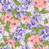 Seamless romantic pattern. Stock Images