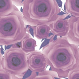 Seamless romantic purple blurred roses background pattern print Stock Image