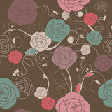 Seamless romantic wallpaper Royalty Free Stock Images