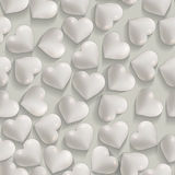 Seamless romantic white hearts valentines  background Royalty Free Stock Images