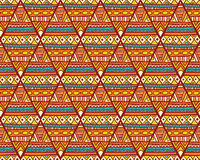 Seamless romb ethno pattern. Seamless vector texture with geometric tribal pattern in warm autumn colors Stock Images