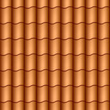 Seamless roof tiles. Vector seamless roof tiles illustration stock illustration