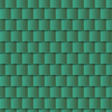 Seamless roof tiles pattern - green texture. Stock Image