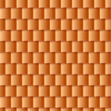 Seamless roof tiles pattern - orange texture. Stock Images