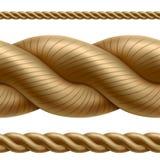 Seamless rope divider Royalty Free Stock Photos
