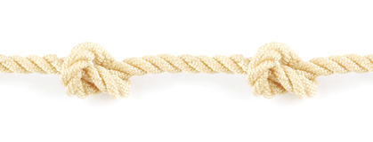 Seamless rope with knot Stock Photos