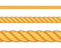 Seamless rope. Vector illustration Stock Images