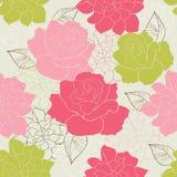 Seamless rose. Wallpaper pattern cute Stock Photo