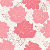Seamless rose. Wallpaper pattern cute Stock Images