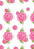 Seamless rose background stock illustration