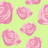 Seamless Rose Background Stock Photos