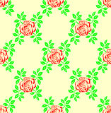 Seamless rose background. Royalty Free Stock Image