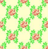 Seamless rose background. Royalty Free Stock Image