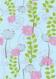 Seamless rose and dandelion wallpaper royalty free illustration
