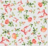 seamless rose för bakgrundsbowillustration Royaltyfria Foton
