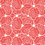 Seamless rose floral wallpaper Stock Photo
