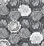 Seamless rose flower pattern Stock Images