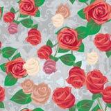 Seamless rose pattern Royalty Free Stock Image