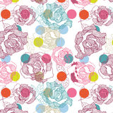 Seamless Rose Pattern Royalty Free Stock Images