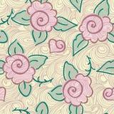 Seamless rose pattern Stock Photography